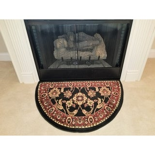 Perfection Collection Hearth Rug Nicaea Black - 2'2 x 3'3
