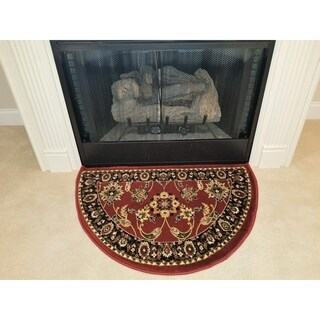 Perfection Collection Hearth Rug Nicaea Red - 2'2 x 3'3