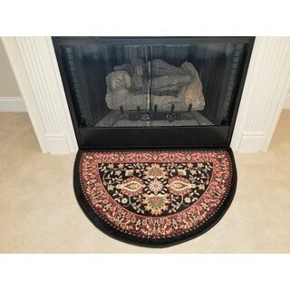 Perfection Collection Hearth Rug Mersin Black 2 - 2'2 x 3'3