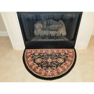 Perfection Collection Hearth Rug Tarsus Black - 2'2 x 3'3