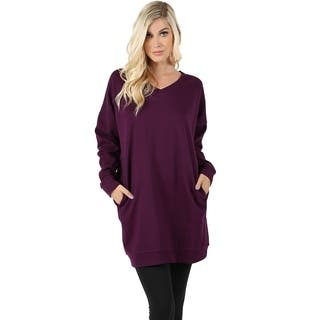 Jed Women S Loose Fit V Neck Tunic Sweatshirt With Pockets