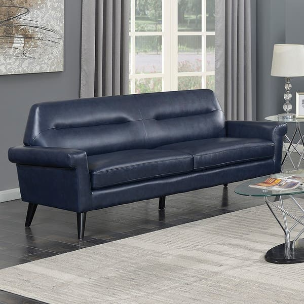 Fantastic Shop Camden Mid Century Blue Faux Leather Upholstered Forskolin Free Trial Chair Design Images Forskolin Free Trialorg