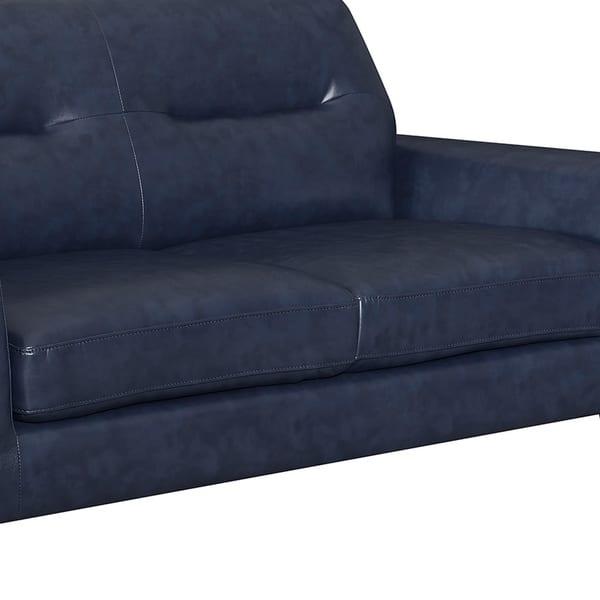 Enjoyable Shop Camden Mid Century Blue Faux Leather Upholstered Forskolin Free Trial Chair Design Images Forskolin Free Trialorg