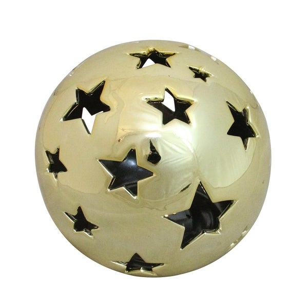 Shop 5 75 Quot Battery Operated Starry Night Shiny Gold