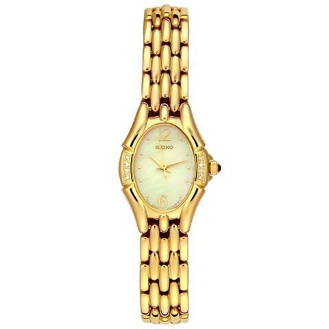 Seiko Women's Goldtone Diamond Watch
