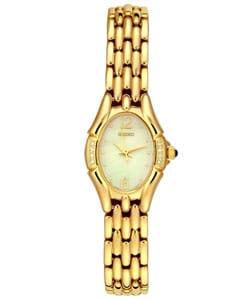 Seiko Women's Goldtone Diamond Watch - Thumbnail 0
