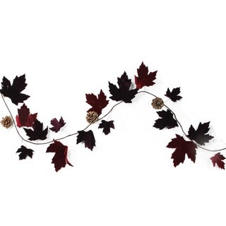 """49"""" Nature's Luxury Maple Leaf and Pine Cone Christmas Garland - Unlit"""