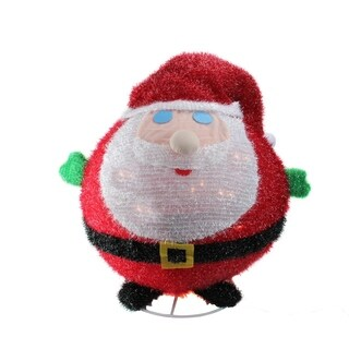 """20"""" Lighted Collapsible Christmas Santa Claus Outdoor Decoration"""