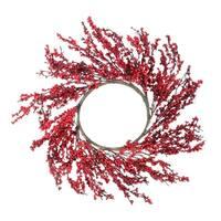 "28"" Festive Red Berries Artificial Christmas Wreath - Unlit"