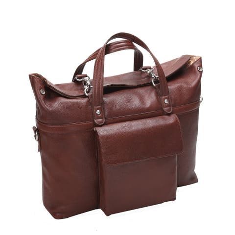 "McKleinUSA Edgefield 17"" Leather Roll Top Laptop Briefcase"