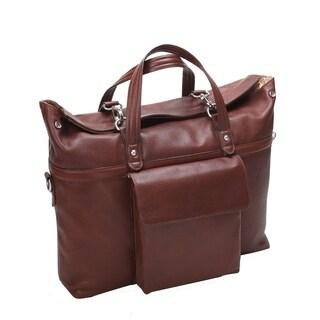 "McKleinUSA Edgefield 17"" Leather Roll Top Laptop Briefcase"
