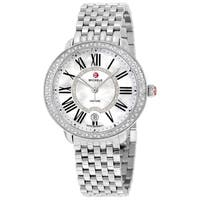 Mamacita Mother of Pearl Dial Stainless Steel Ladies Watch - N/A