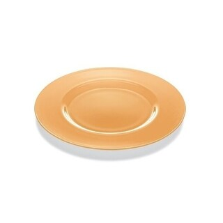 "Majestic Gifts High Quality Glass Charger- Apricot Orange- 12.6"" Diameter- Made in Europe"