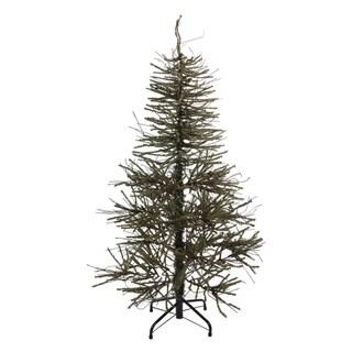 "4' x 28"" Warsaw Twig Artificial Christmas Tree - Unlit - N/A"