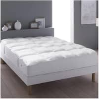W-Home Mattress Feather Topper - White
