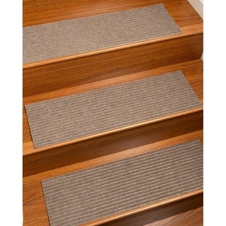 """NaturalAreaRugs Handcrafted Halton Seagrass Carpet Stair Treads Beige, 9"""" x 29"""" Set of 13 - 9""""x29"""""""