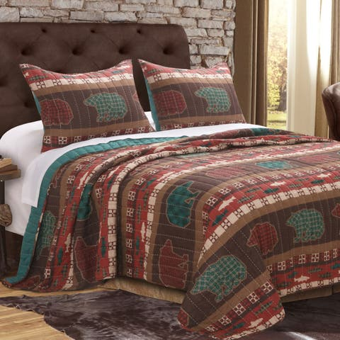Greenland Home Canyon Creek Oversized Reversible Cotton Quilt Set