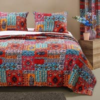 Barefoot Bungalow Indie Spice Oversized Reversible Quilt Set