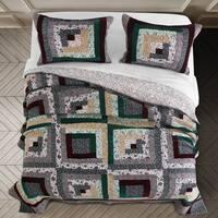 Greenland Home Fashions Pine Grove Velvet Oversized Reversible Quilt Set
