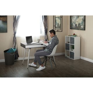 Calico Designs Alcove Modern Desk With Large Split Drawer