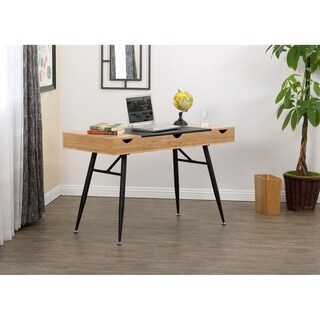 Calico Designs Nook Chestnut/Walnut Modern Desk With 4 Storage Compartments