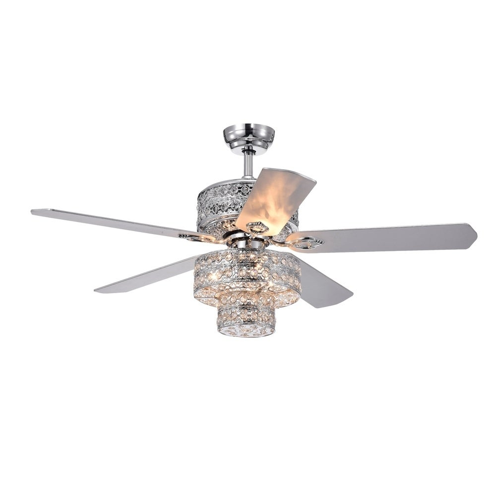 Empire Trois 52 Inch Silver Chandelier Ceiling Fan With 2 Blade Colors On Sale Overstock 22988065