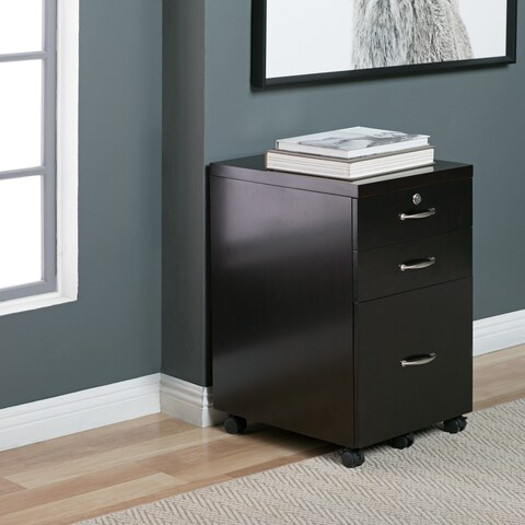 Studio Designs Home Newell Locking 3 Drawer Mobile File Cabinet with Casters