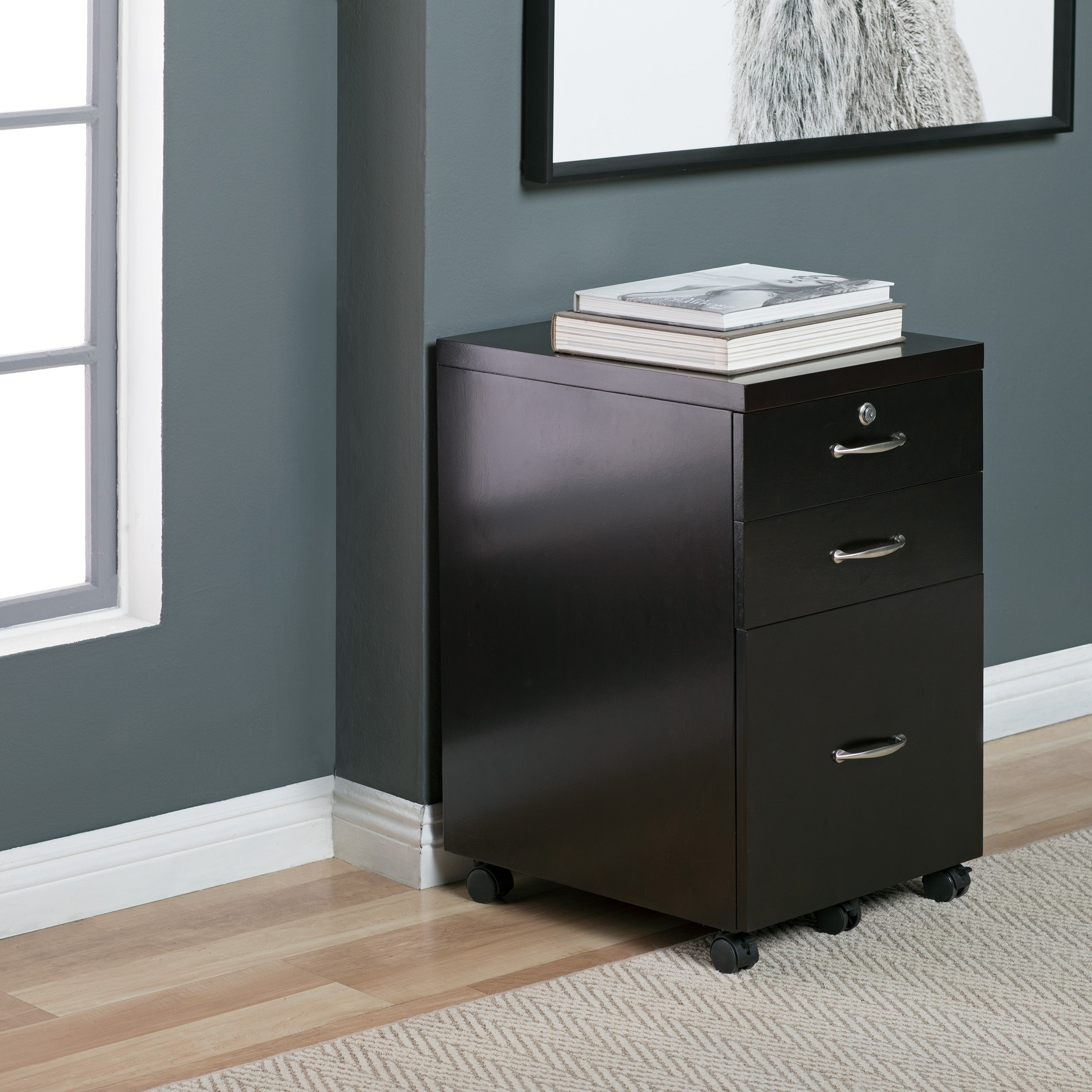 Studio Designs Home Newell Locking 35 Drawer Mobile File Cabinet with Casters