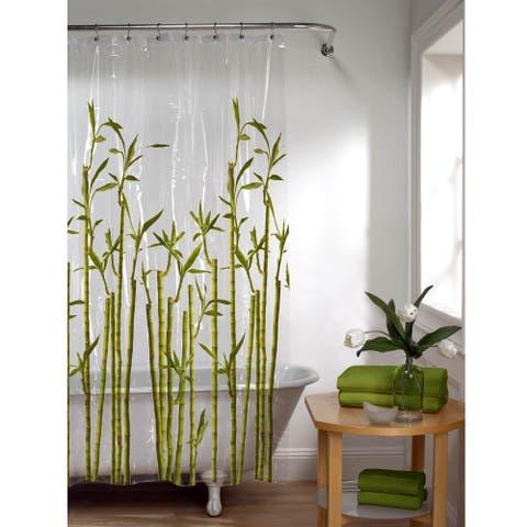 Maytex Photoreal Tropical Plant PEVA Shower Curtain