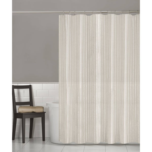 Maytex Linen Stripe Fabric Shower Curtain. Opens flyout.