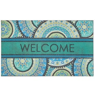Mohawk Home Doorscapes Fiesta Welcome Peacock Medallion Door Mat (1'6 x 2'6)