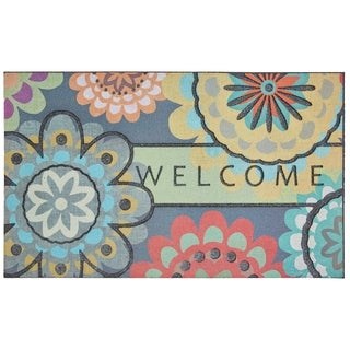 Mohawk Home Doorscapes Welcome Creative Dahlia Door Mat (1'6 x 2'6)