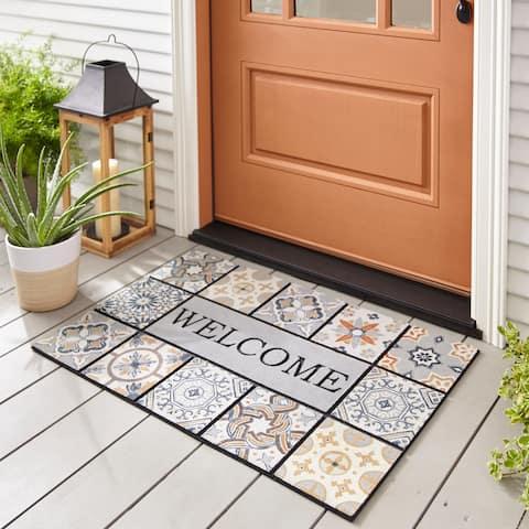 Mohawk Home Doorscapes Estate Welcome Patina Tiles Door Mat (1'11 x 2'11)