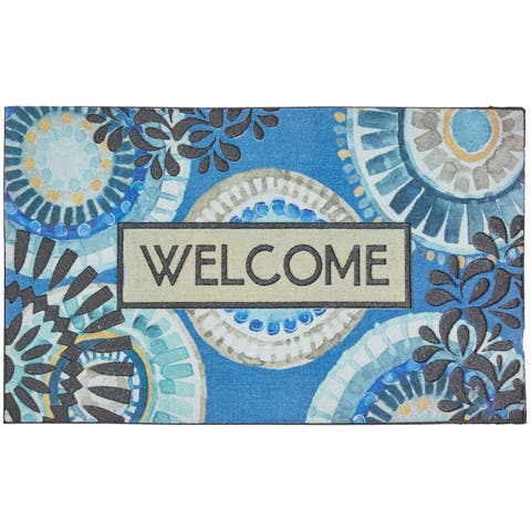 Mohawk Home Doorscapes Welcome Indigold Lace Door Mat (1'6 x 2'6)
