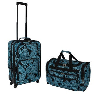 World Traveler Designer Prints Paisley 2-piece Expandable Spinner Luggage Gift Set
