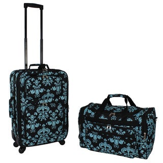 World Traveler Damask 2-piece Expandable Spinner Luggage Gift Set