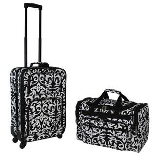 World Traveler Damask 2-piece Expandable Spinner Luggage Gift Set