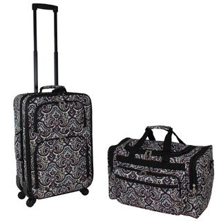World Traveler Bengali 2-piece Expandable Spinner Luggage Gift Set