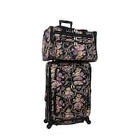 World Traveler Classic Floral 2-piece Expandable Spinner Luggage Gift Set
