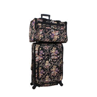 8f334831c2cd SALE. World Traveler Classic Floral 2-piece Expandable Spinner Luggage Gift  Set