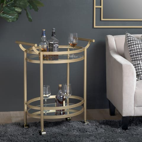 Studio Designs Home Palazzo 2-Tier Oval Bar / Serving Cart