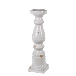 Large White Ceramic Candle Holder