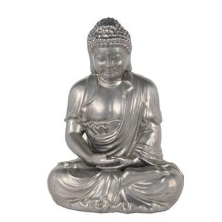 Silver Ceramic Buddah