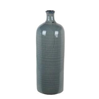 Large Blue Ceramic Drip Vase