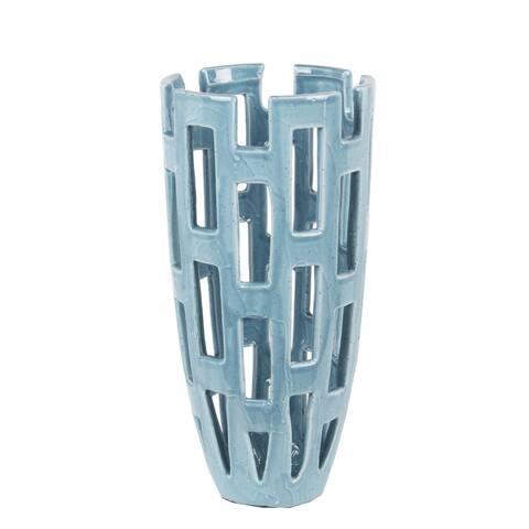 Small Blue Ceramic Vase