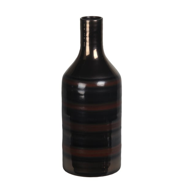 Small Two Tone Brown Ceramic Vase