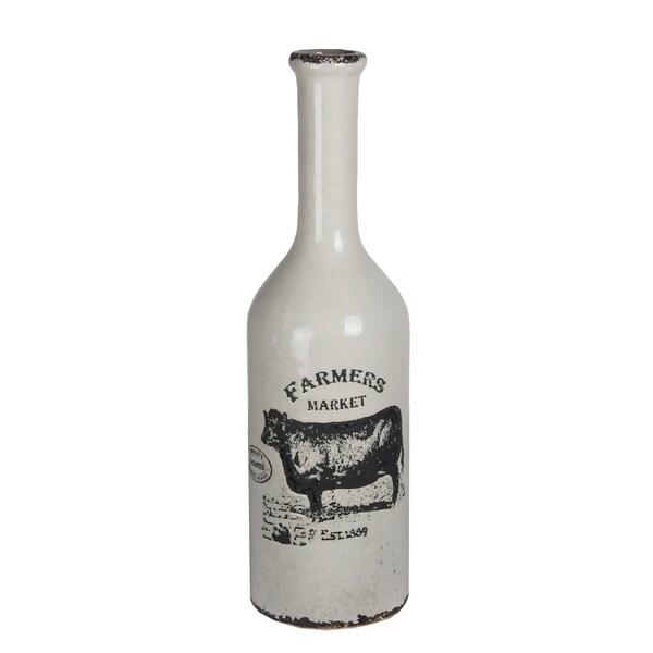 Shop Large White Ceramic Farmhouse Vase Free Shipping Today