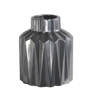Large Silver Ceramic Vase