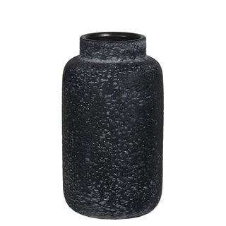 Small Gray Textured Ceramic Vase