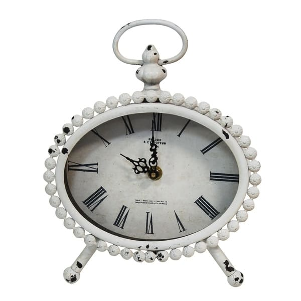 Stratton Home Decor Allie Table Clock Overstock 22989038